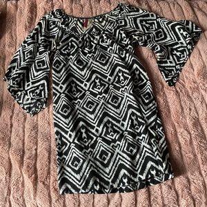 Cinnamon Girl • ikat tribal flutter sleeve dress